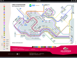 Vaporetto map