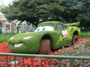 Lightning McQueen Topiary at Epcot