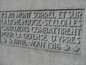 Mont Sorrel plaque