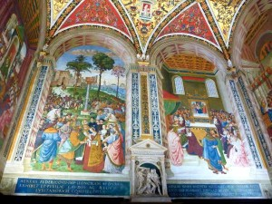 Piccolomini Library wall