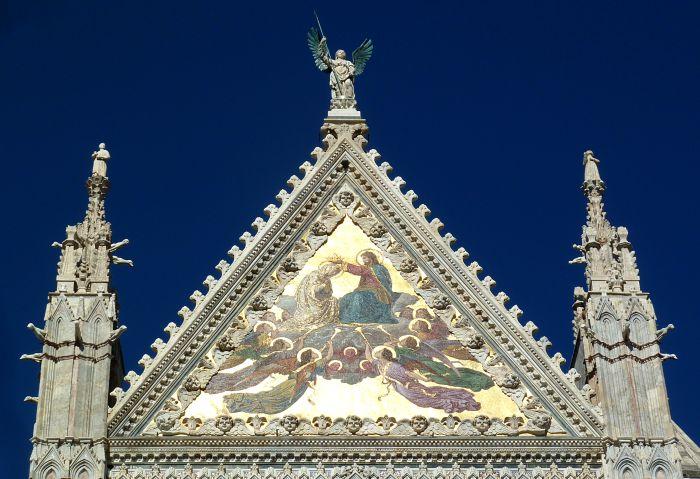 Upper Facade Siena Duomo