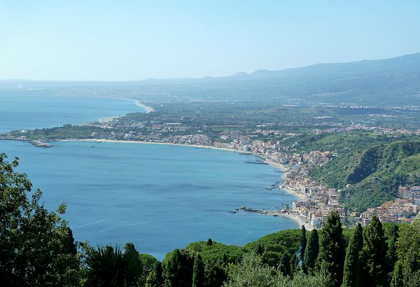 View South from Taormina