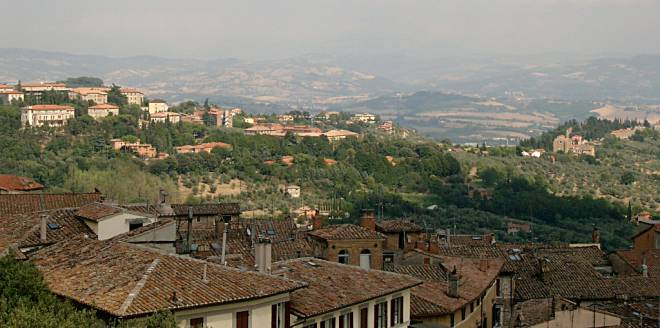 View from Piazza Italia Perugia