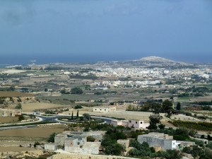 View north from Mdina
