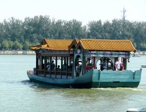 Ferry on Lake at Summer Palace