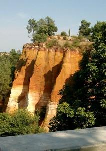 Rousillon cliffs