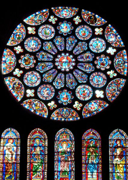 Rose window Chartres cathedral