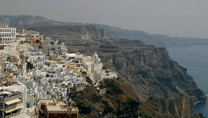 Santorini cliffs