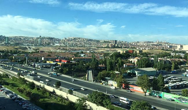 Ankara from hotel