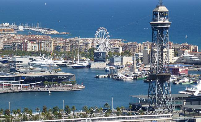 Harbour from Montjuic
