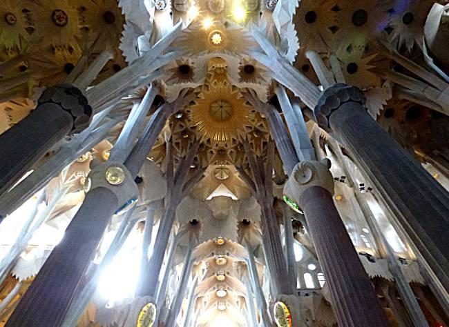 Sagrada Familia apse ceiling