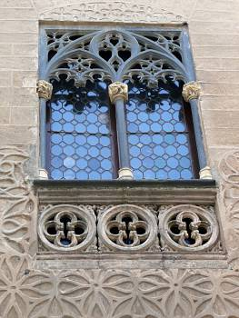 Window with wall carvings