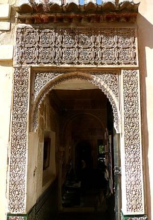 Stucco doorway