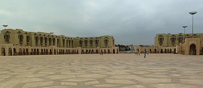 Hassan II Mosque courtyard