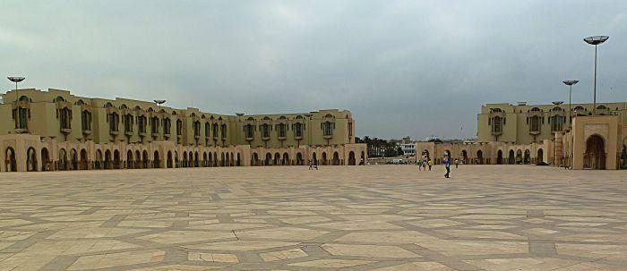 Hassan II Mosque courtyard