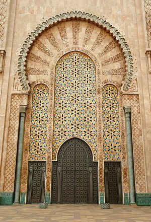 Hassan II Mosque doorway