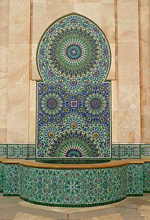 Hassan II Mosque fountain